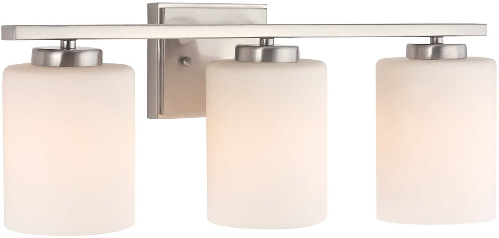 "21""w Chloe 3-Light Bath Fixture Satin Nickel"