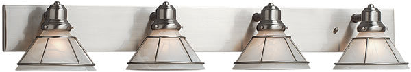"38""w Craftsman 4-Light Vanity Strip Satin Nickel"