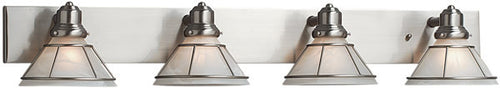 Dolan Designs Craftsman 4-Light Vanity Strip Satin Nickel 63409