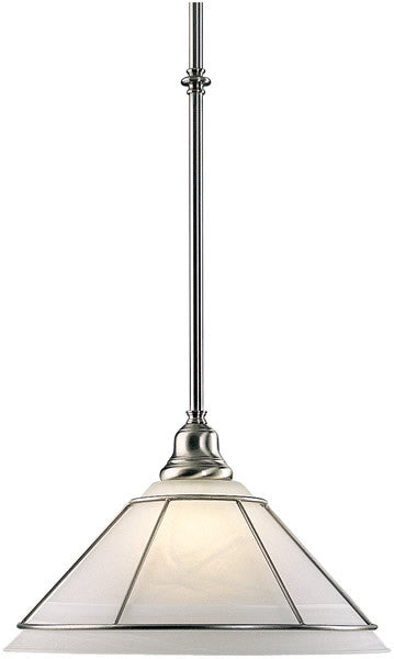 "9""w Craftsman 1-Light Pendant Satin Nickel"
