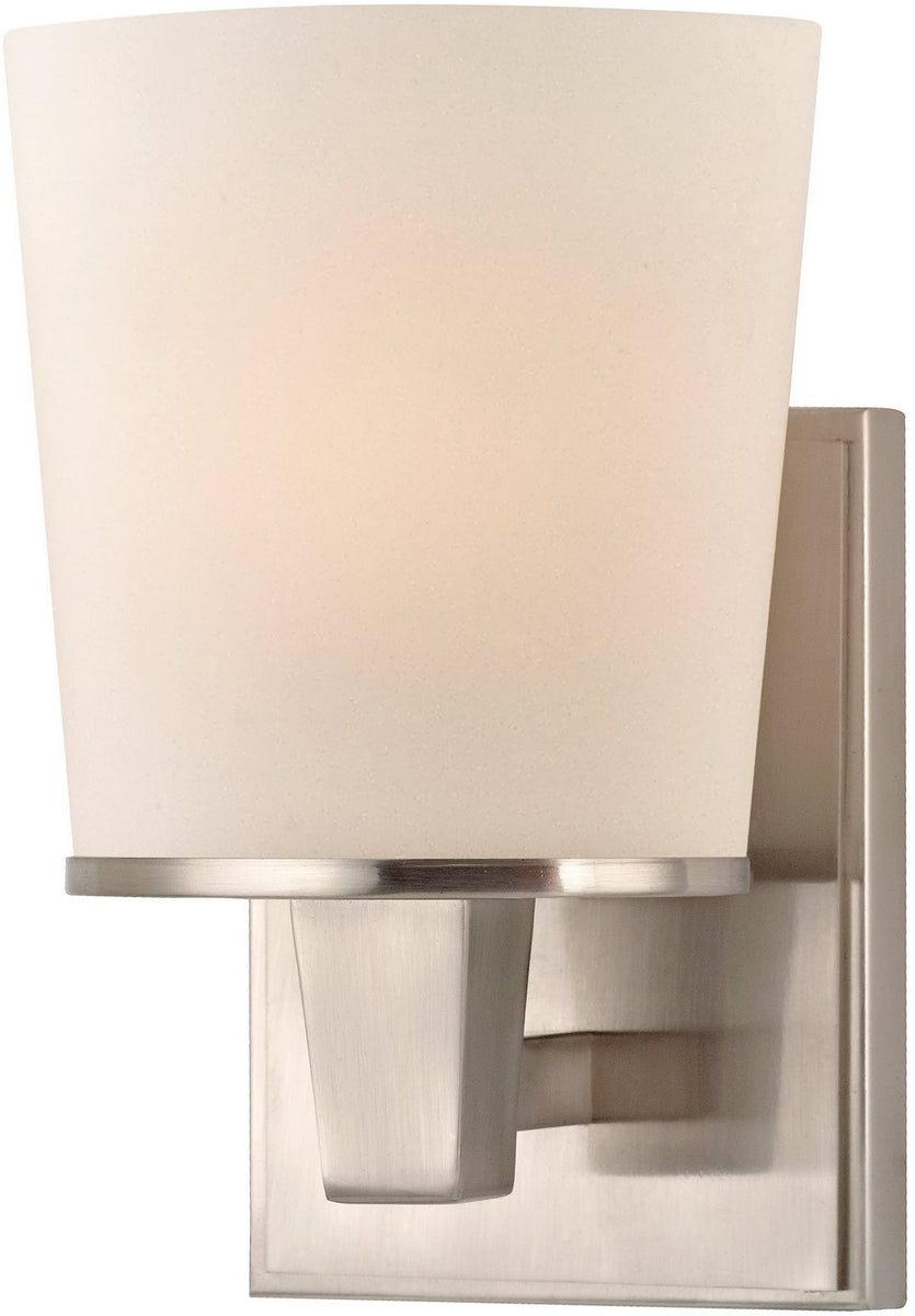"6""w Ellipse 1-Light Wall Sconce Satin Nickel"