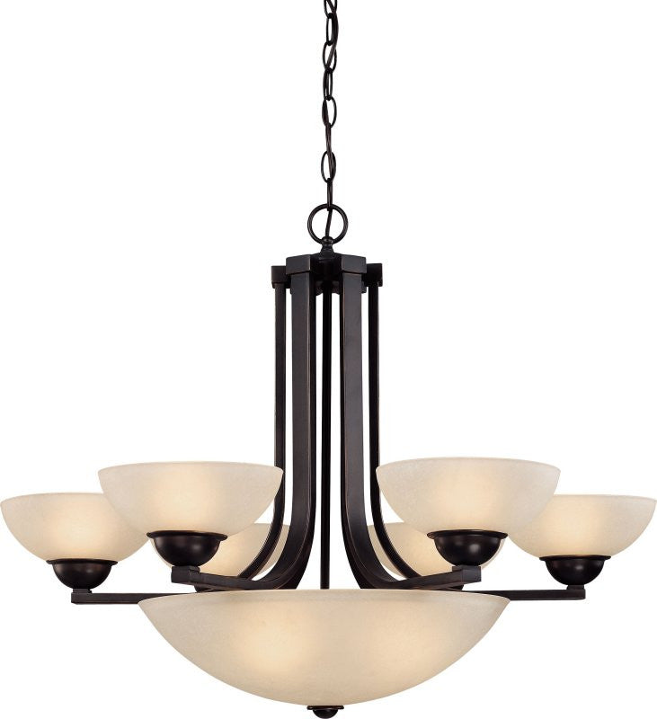 "32""W Fireside Seven Light Chandelier Bolivian"
