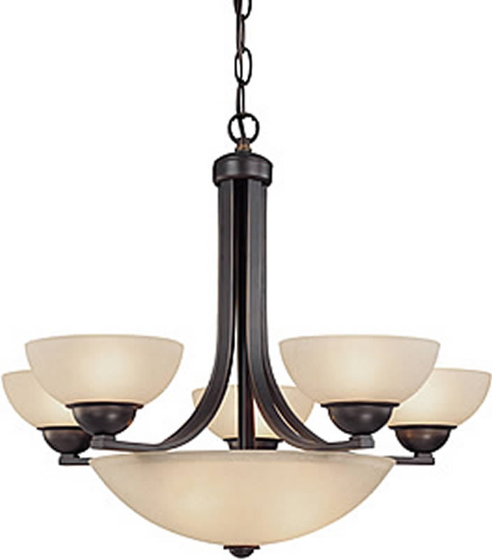 "26""W Fireside 8-Light Bowl Chandelier Bolivian"