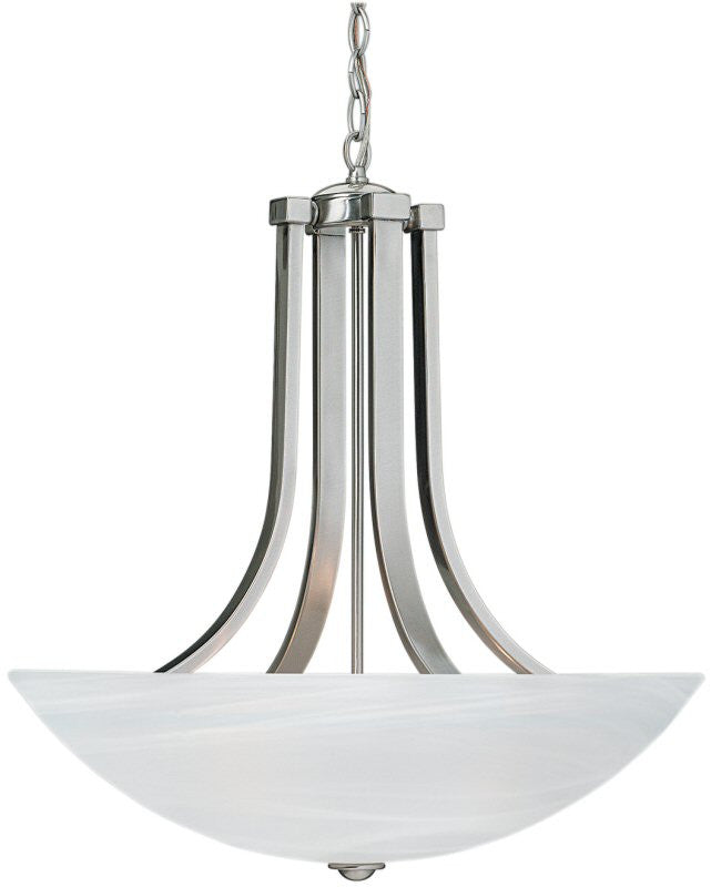 "22""w Fireside 4-Light Pendant Satin Nickel"