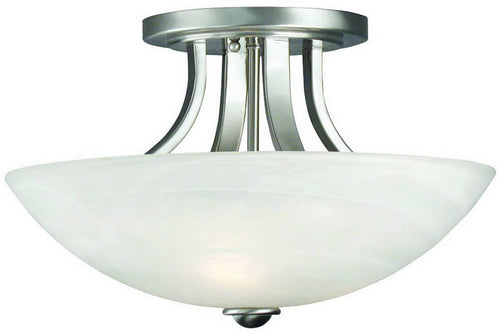 Dolan Designs Fireside 3-Light Semi-Flush Mount Satin Nickel 20409
