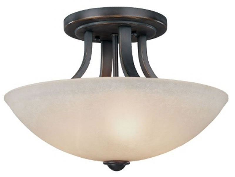 "15""W Fireside Semi Flush Mount Bolivian"