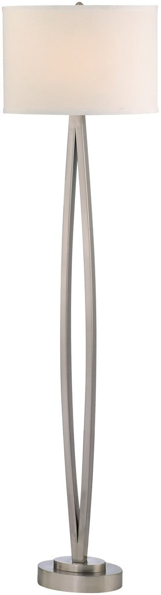 "60""H 1-Light Floor Lamp Satin Nickel"