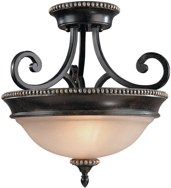 "15""w Hastings 2-Light Semi-Flush Phoenix"