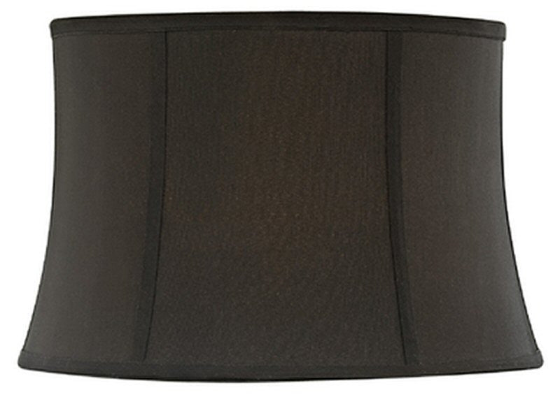 "13""W x 10""H Full Size Black Round Bell Softback Shade"