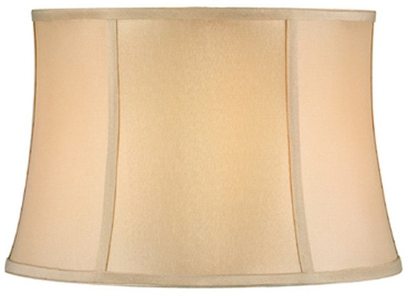"13""W x 10""H Full Size Beige Round Bell Softback Shade"