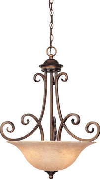 "21""W Medici 3-Light Pendant English Bronze"
