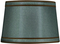 Dolan Designs 13 T x 15 B x 10 H Petite Green with Brown Piping Modified Barrel Lamp Shade 140101