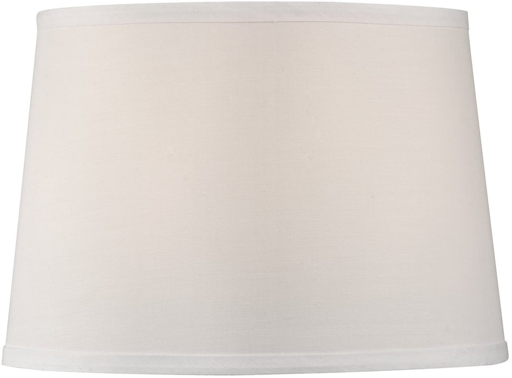 "11""W x 9""H Petite White Linen Modified Barrel Hardback Lamp Shade"