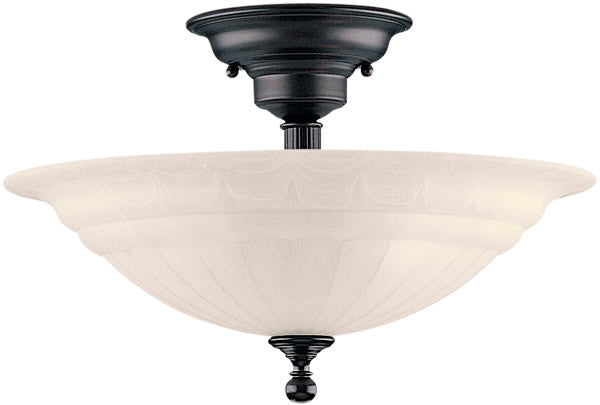 "16""W Richland 3-Light Semi-Flush Royal Bronze"