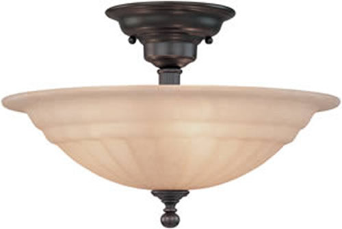"16""W Richland 3-Light Semi Flushmount Bolivian"