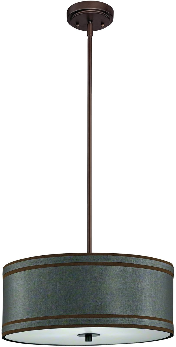 "18""w Rio 3-Light Pendant Neuvelle Bronze"
