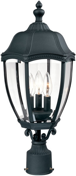 "22""h Roseville 3-Light Outdoor Post Lantern Black"