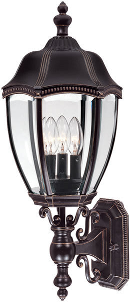 "24""H Roseville 3-Light Outdoor Wall Lantern Antique Bronze"