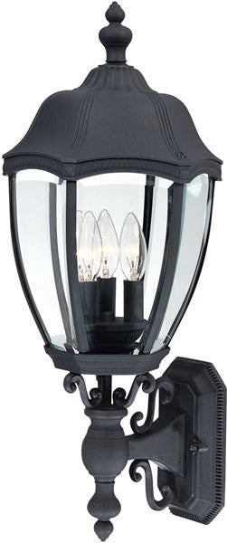 Dolan Designs Roseville 3-Light Outdoor Wall Lantern Black 95350