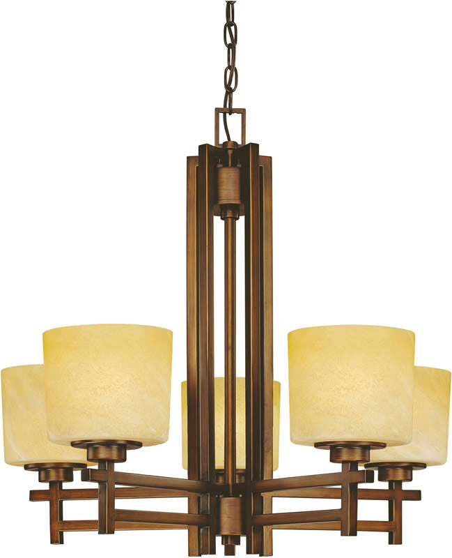"27""w Roxbury 5-Light Chandelier English Bronze"