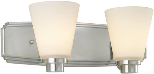 Dolan Designs Southport 2-Light Bath Satin Nickel 340209