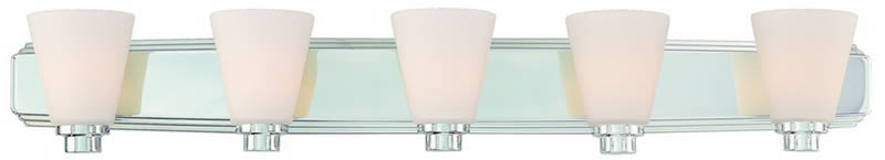 "39""W Southport 5-Light Bath Vanity Chrome"