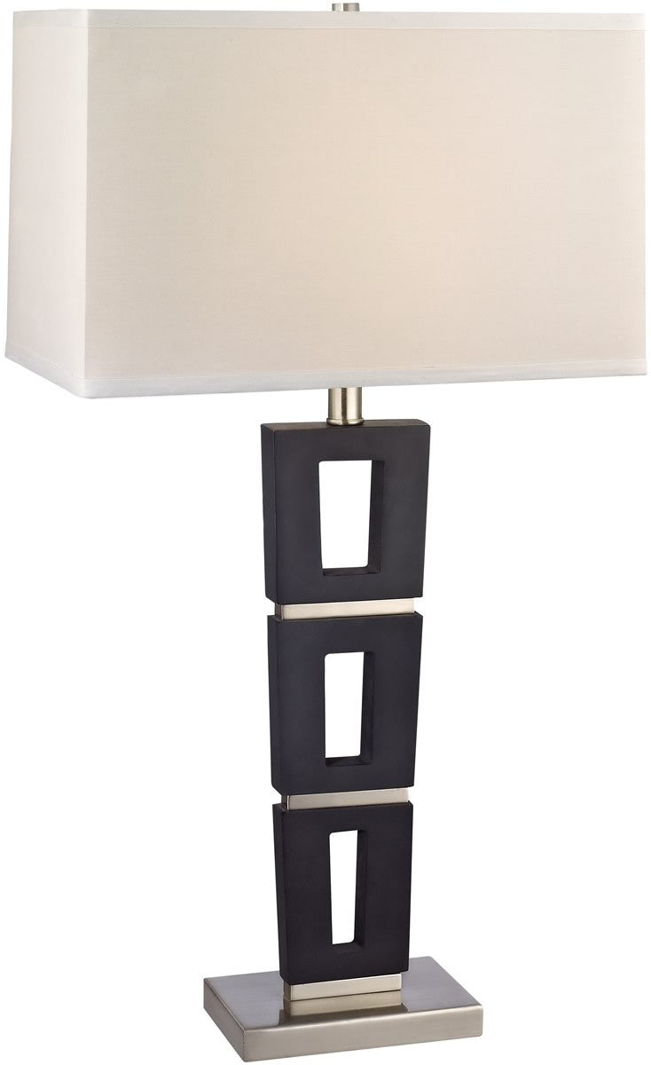 "29""H Table Lamp Satin Nickel/Slate"