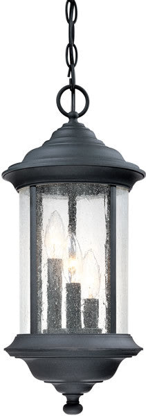"9""W Walnut Grove Outdoor Fixture Black"