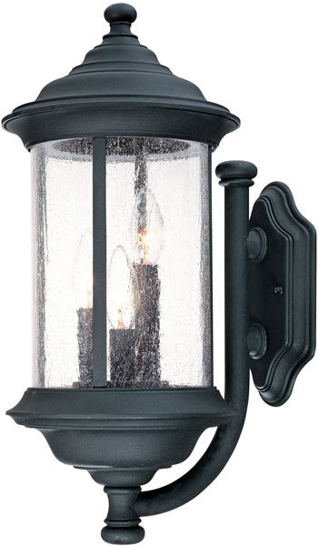"19""h Walnut Grove 3-Light Outdoor Wall Lantern Black"
