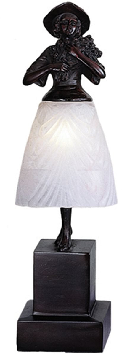 "16""H Silhouette Lady with Bouquet Accent Lamp"
