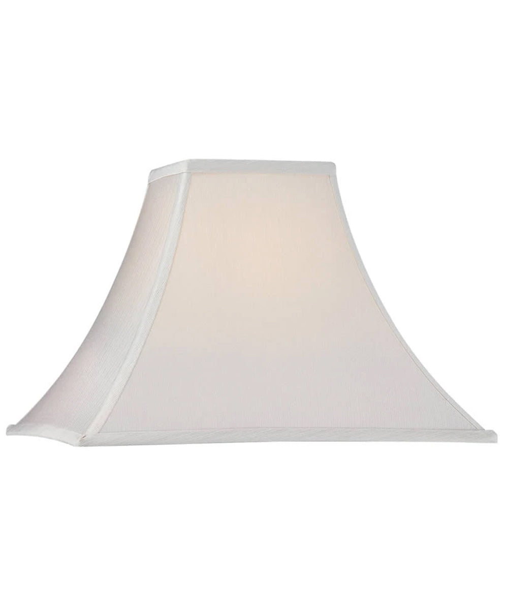 "6""W x 12""H Luna Mixand Match Square Flare Soft Back Shade with Piping"