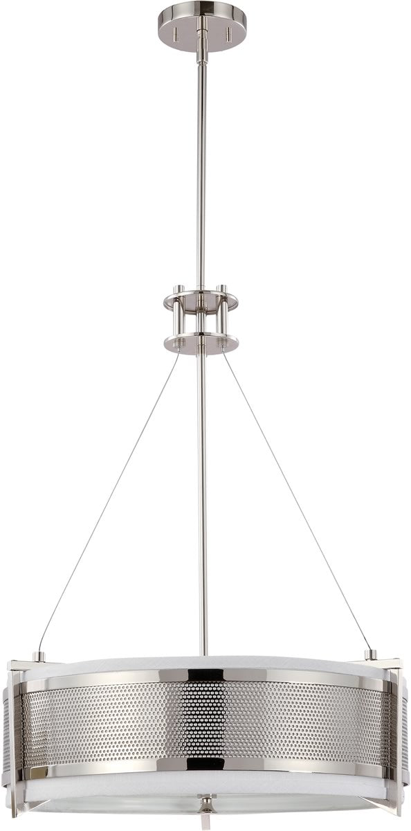 "21""W Diesel 4-Light Pendant Polished Nickel"