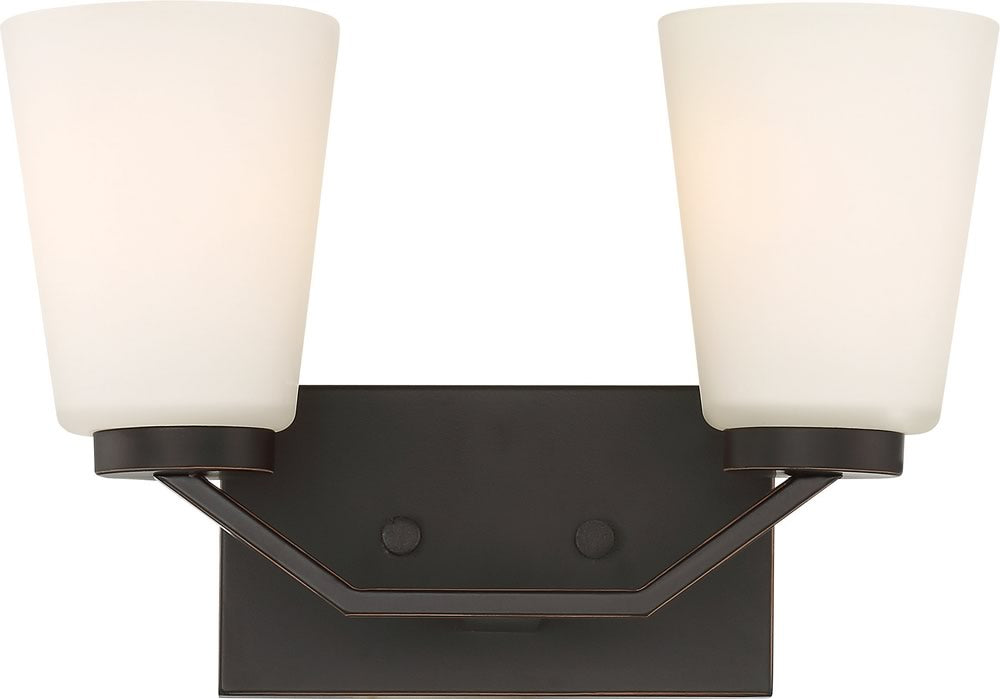 "14""W Nome 2-Light Vanity & Wall Mahogany Bronze"