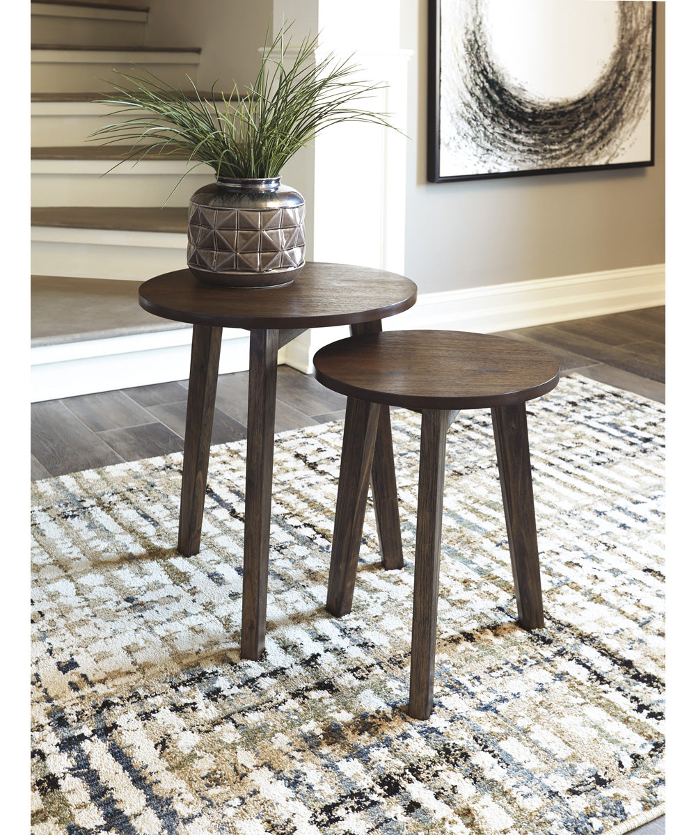 Clydmont Accent Table Set of 2 Brown