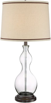 "30""H Carolina 1-light Table Lamp Dark Bronze/Clear Glass"