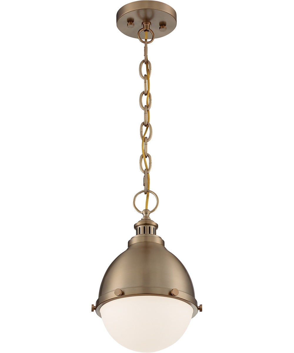 "9""W Ronan 1-Light Pendant Burnished Brass"