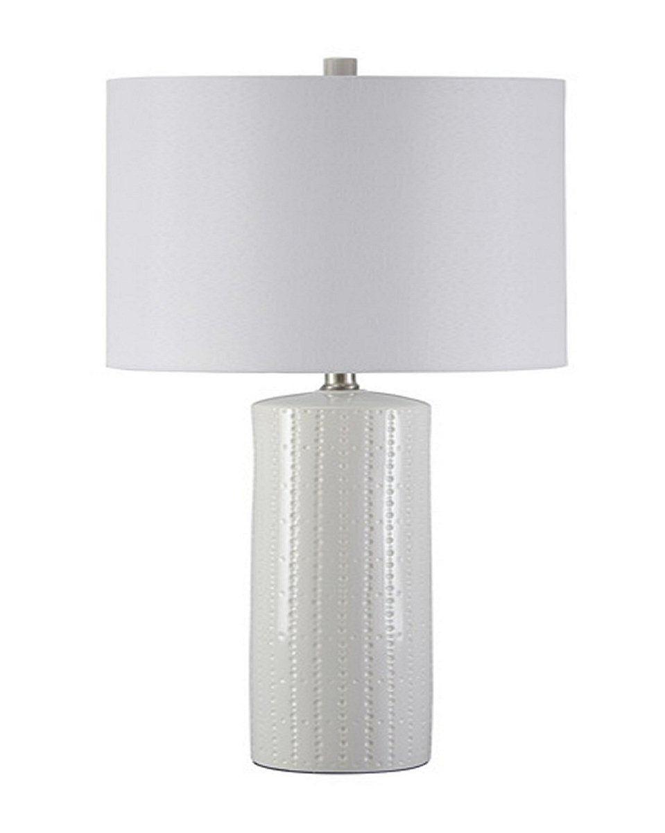 "25""H Steuben Ceramic Table Lamp (Set of 2) White"