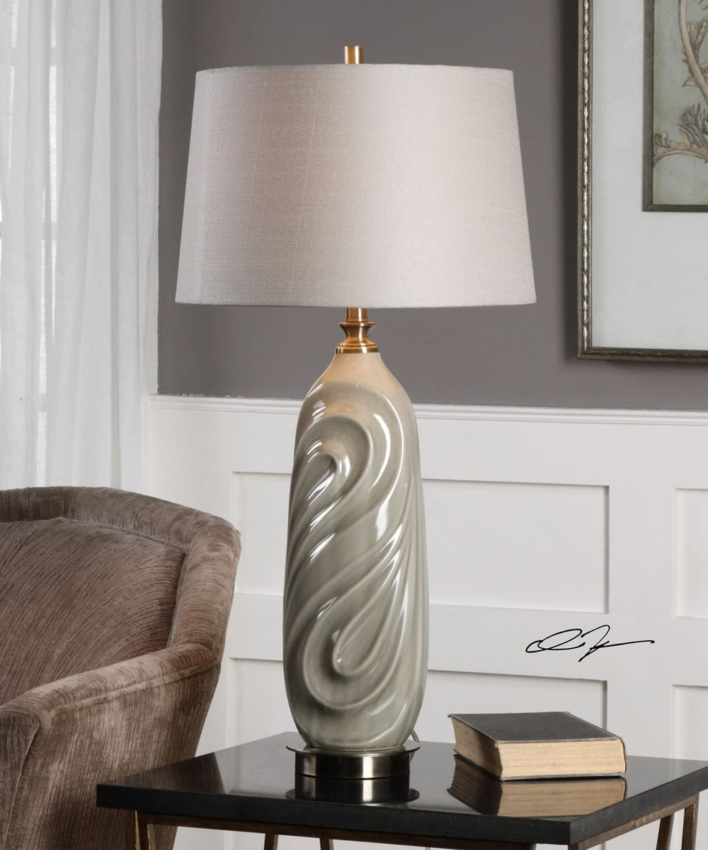 "33""H Griseo Sage Gray Table Lamp"