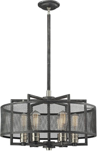 Slatington 6-Light Chandelier Silvered Graphite/Brushed Nickel