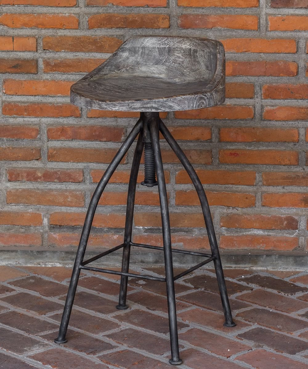 "35""H Kairu Wooden Bar Stool"