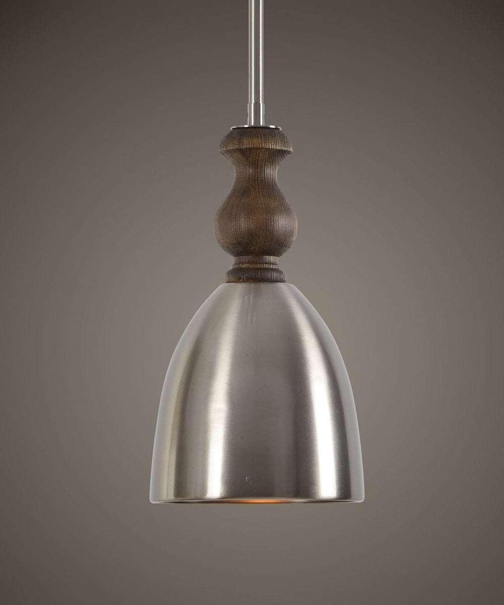 "8""W Luna 1 Light Aluminum Mini Pendant"
