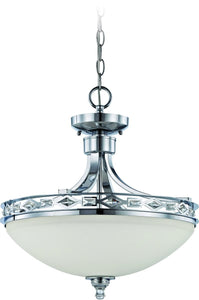 Saratoga 3-Light Semi Flush/Pendant Light Chrome