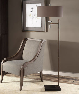 "67""H Oletha Dark Bronze Floor Lamp"