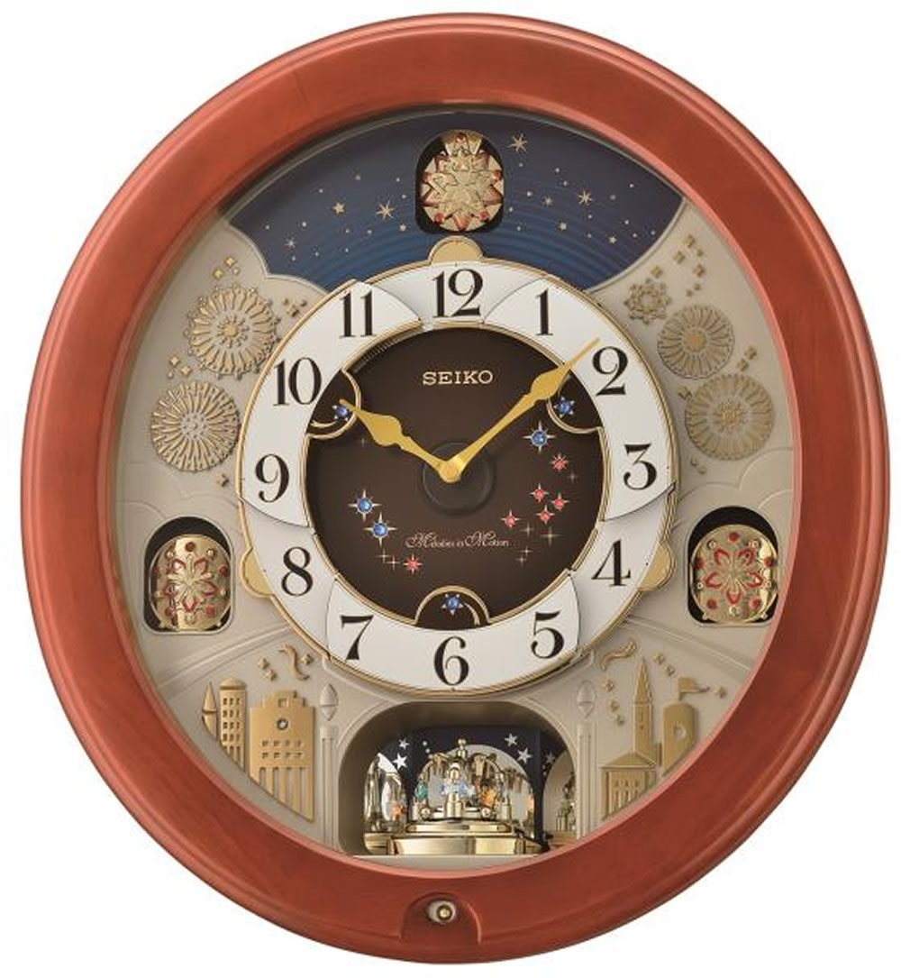 "18""H Melodies in Motion Clock  with 18 Melodies"