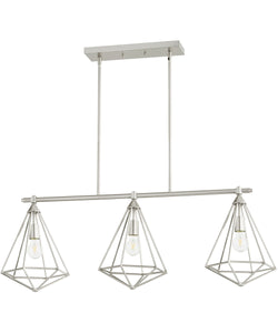 "42""W Bennett 3-light Kitchen Island Light Satin Nickel"