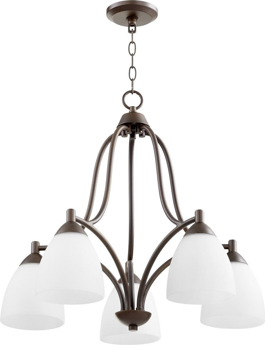 "24""W Barkley 5-light Nook Chandelier Oiled Bronze"