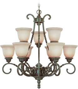 0-004860>Sutherland 9-Light Chandelier English Toffee