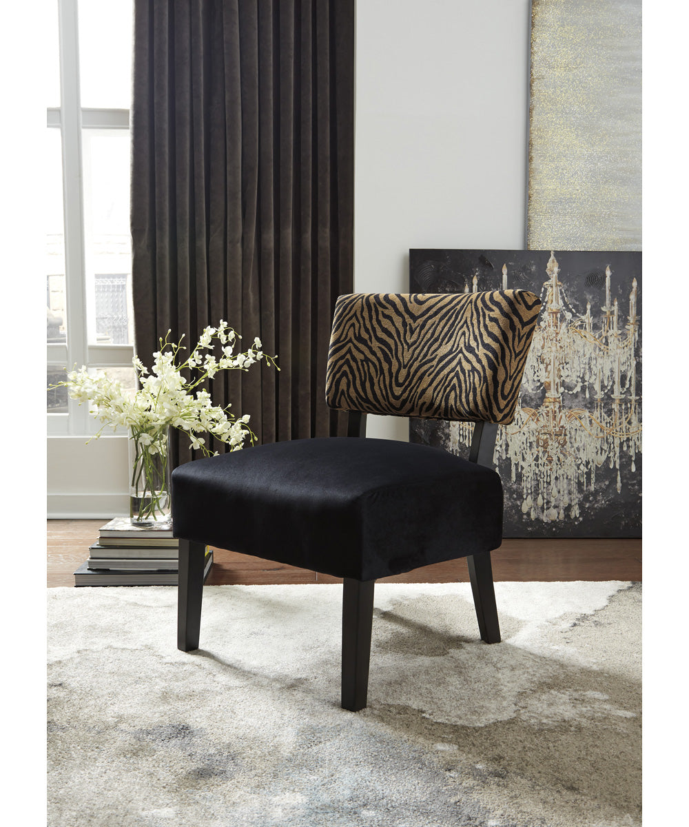 "38""H Parvin Accent Chair Gold/Black"