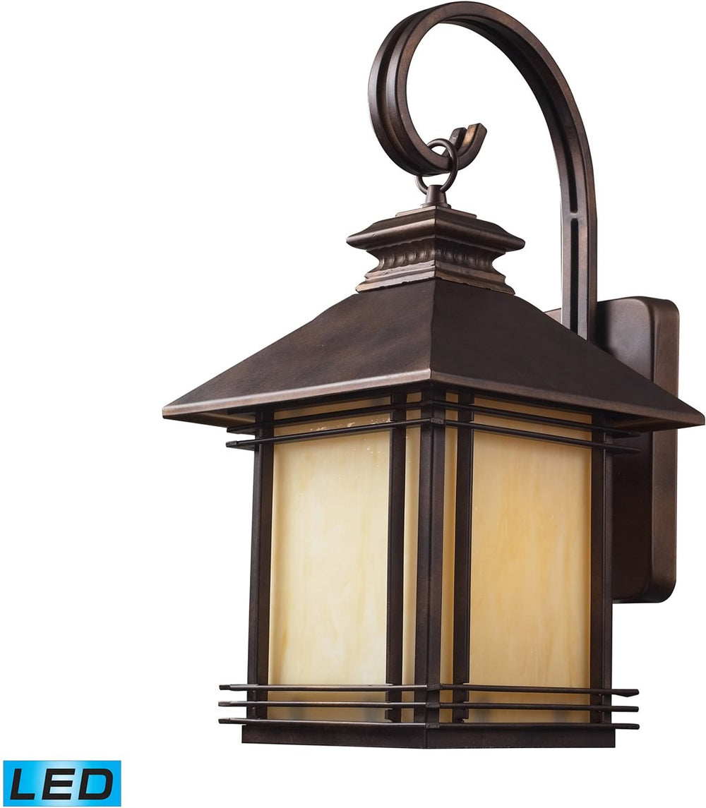 "19""H Blackwell 1-Light Outdoor LED Sconce Hazelnut Bronze"