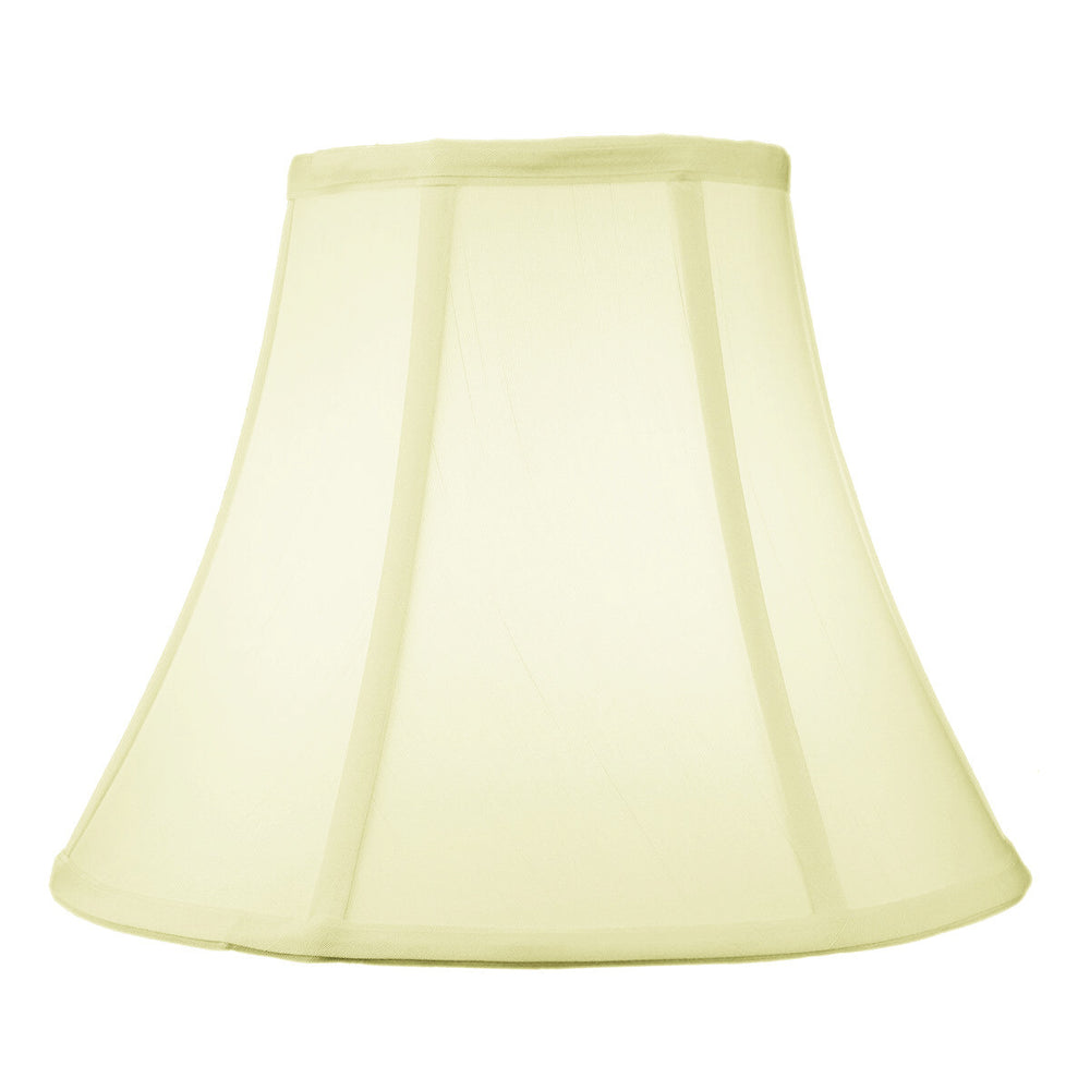 "12""W x 10""H  SLIP UNO FITTER Egg Shell Shantung Bell Lampshade"